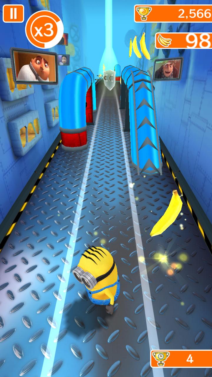 androidアプリ 怪盗グルーのミニオンラッシュ攻略スクリーンショット3
