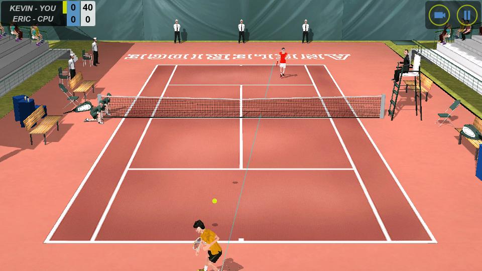 フリックテニス androidアプリスクリーンショット1