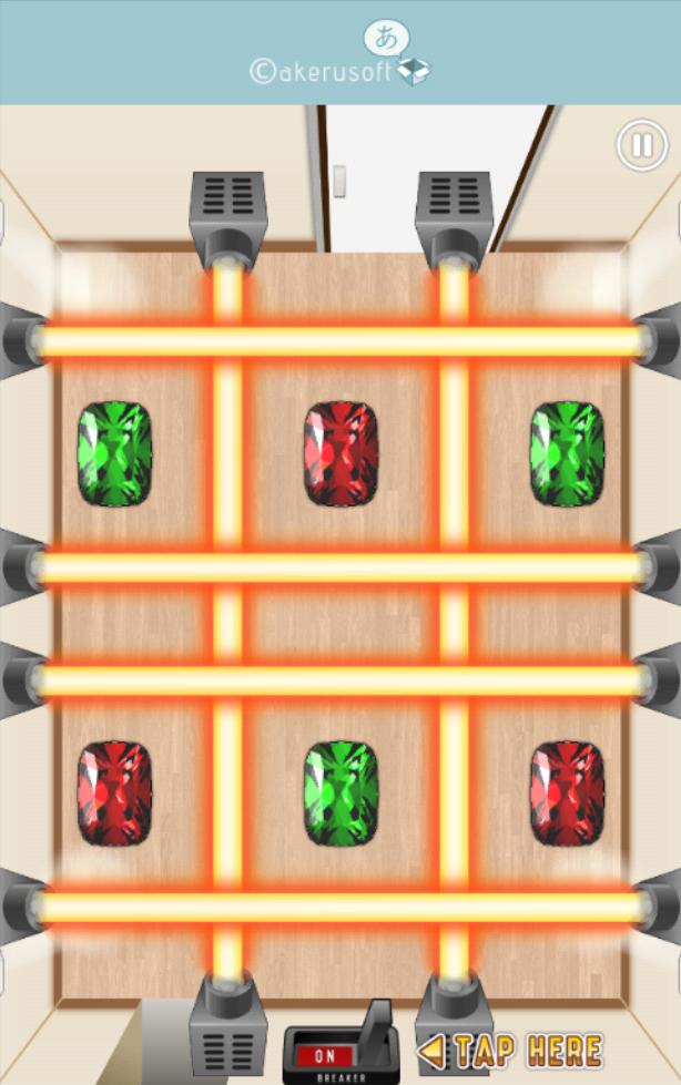 脱出!怪盗ピピン -記憶力&右脳直感ゲーム- androidアプリスクリーンショット1