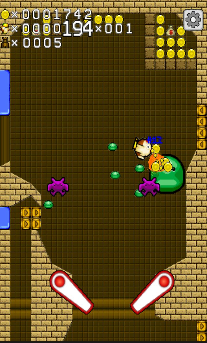 コッコと不思議の塔 ~コケッ!(゚θ゚)鶏球ピンボール!~ androidアプリスクリーンショット1