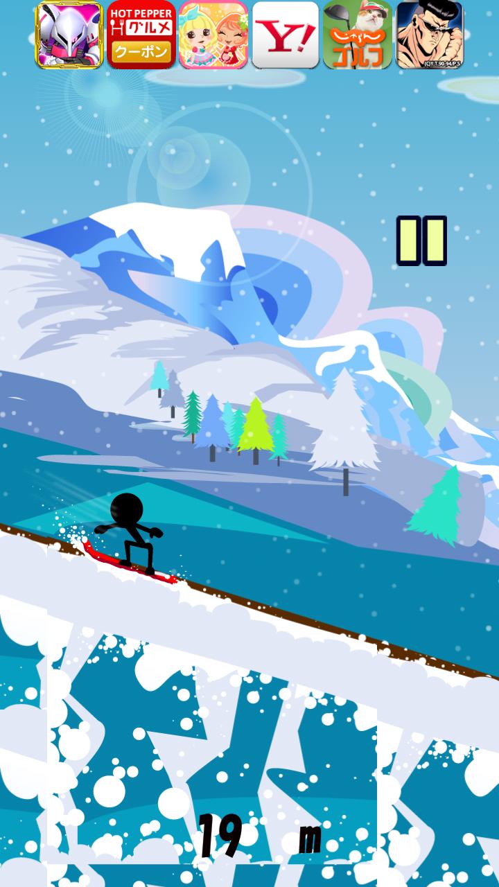 滑走!スノーボードダウンヒル androidアプリスクリーンショット1