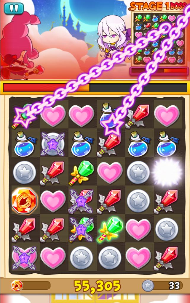 対戦!パズル&マジック androidアプリスクリーンショット1