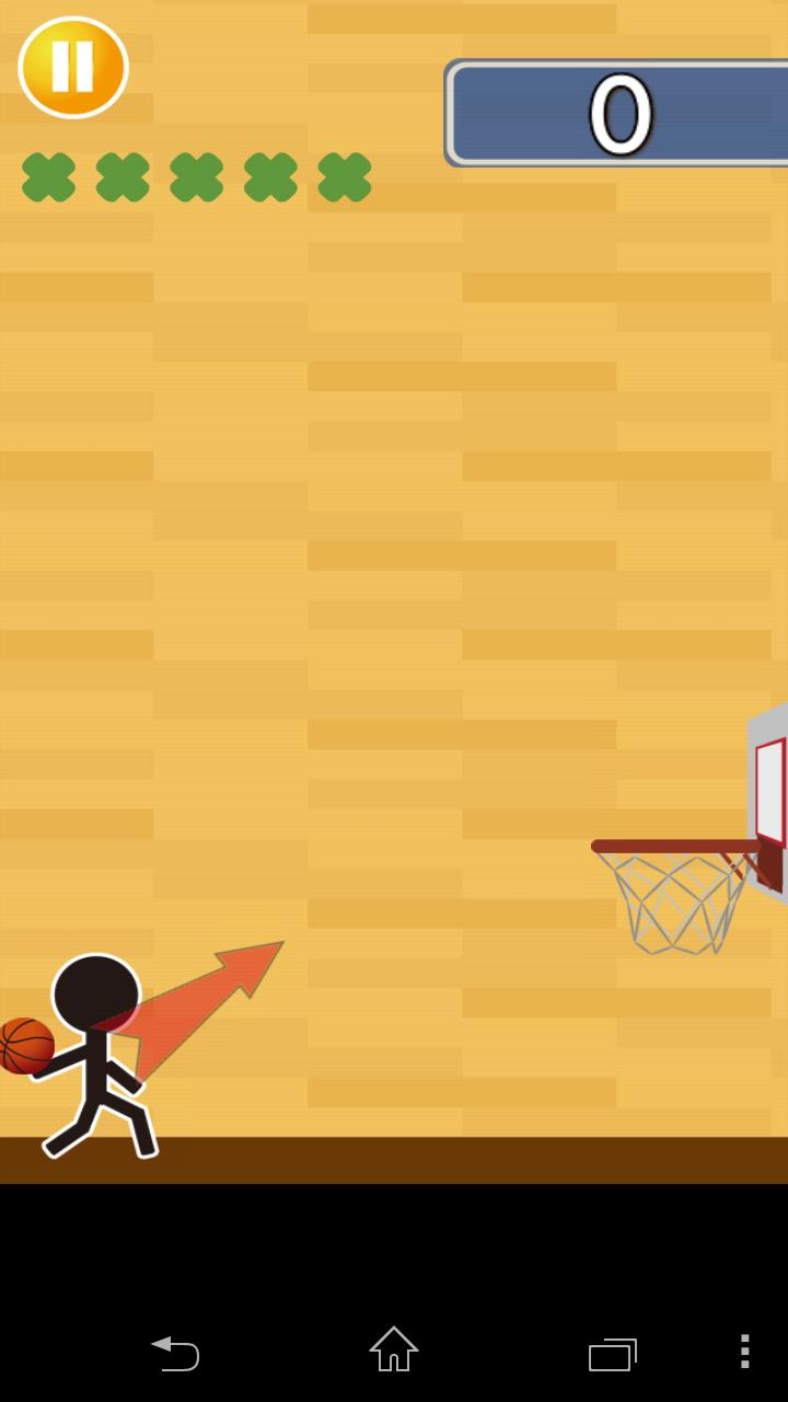 バスケがしたいです androidアプリスクリーンショット1