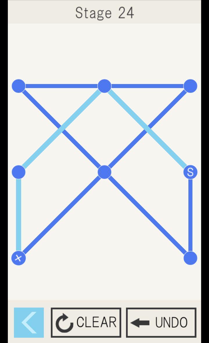 一筆書き~自分で作ったステージが遊べるパズルゲーム~ androidアプリスクリーンショット1