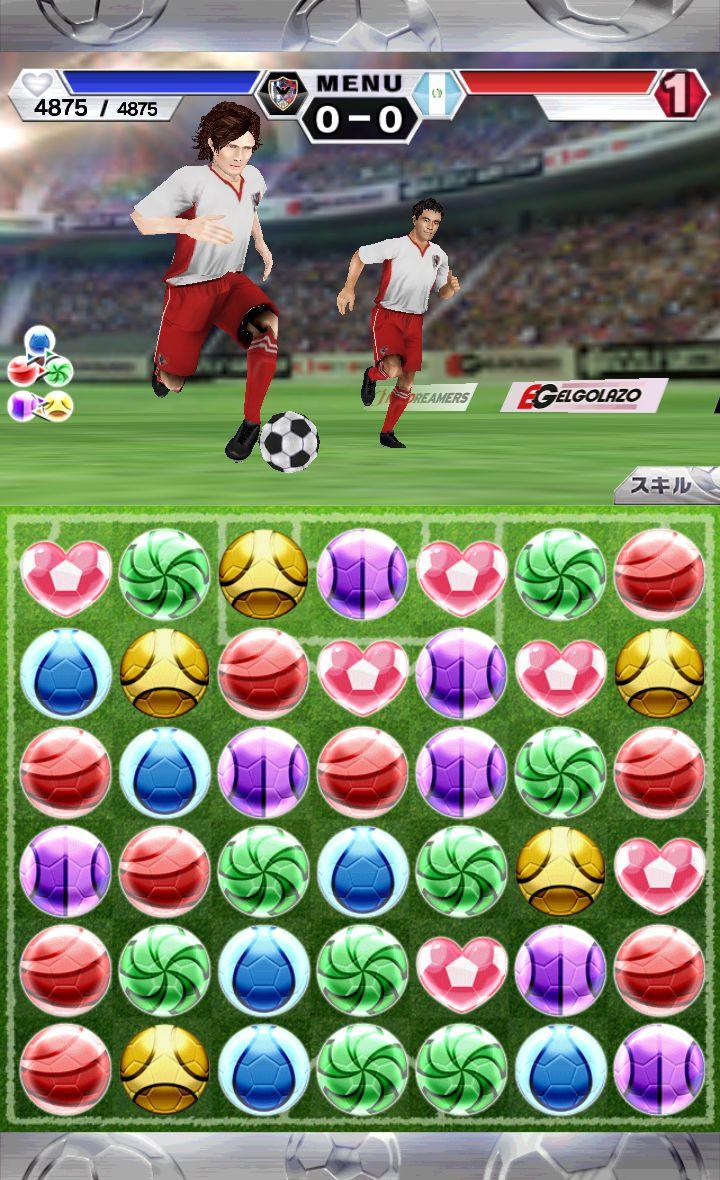 パズルサッカー androidアプリスクリーンショット1