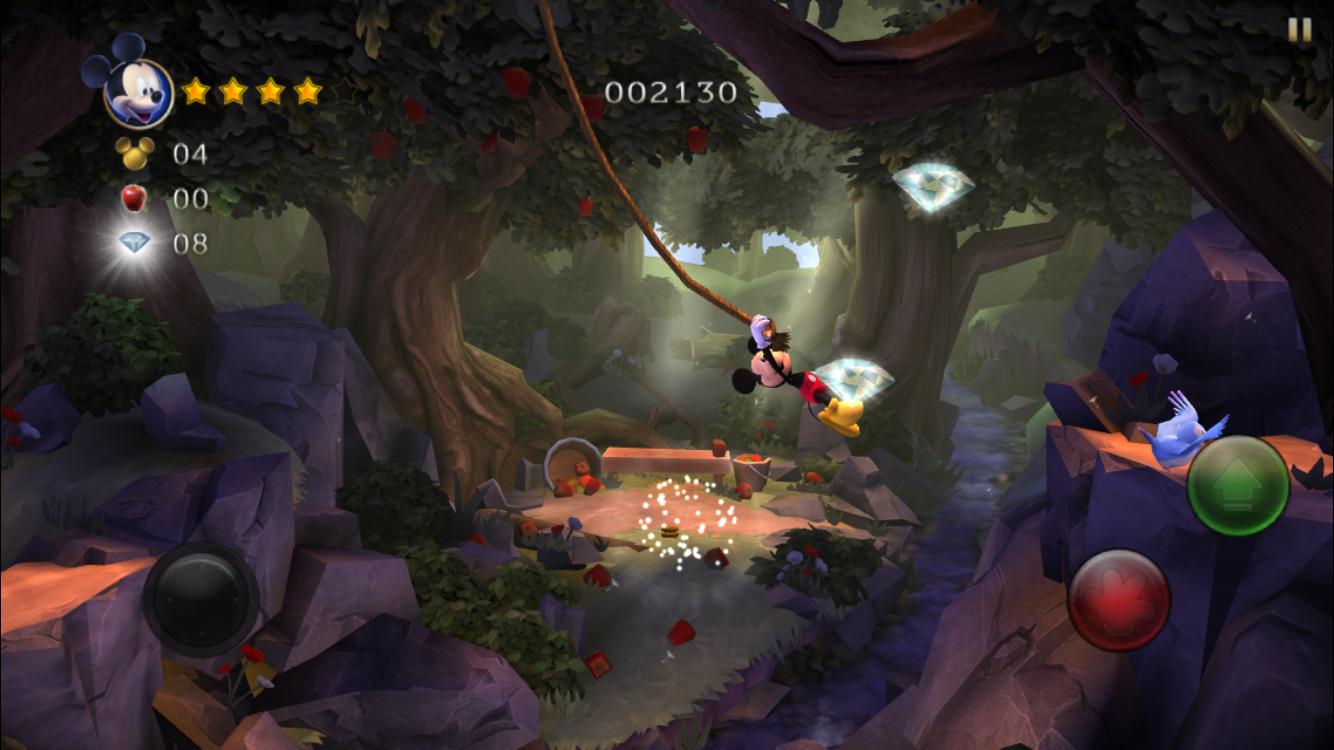 ミッキーマウス キャッスル・オブ・イリュージョン androidアプリスクリーンショット1