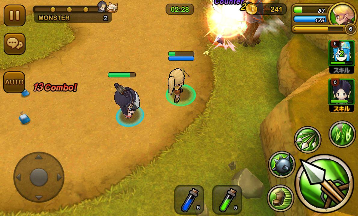 大乱闘RPGガーディアンハンター androidアプリスクリーンショット1