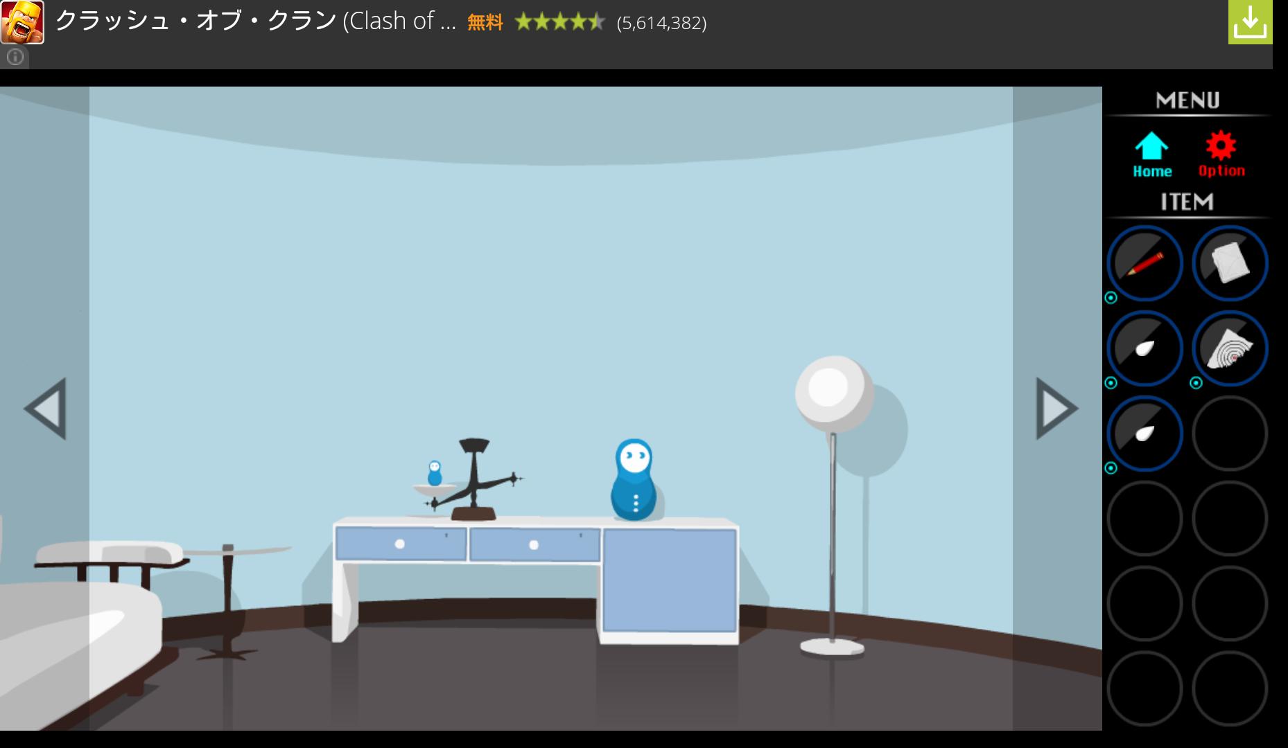 脱出ゲーム Matryoshka androidアプリスクリーンショット1