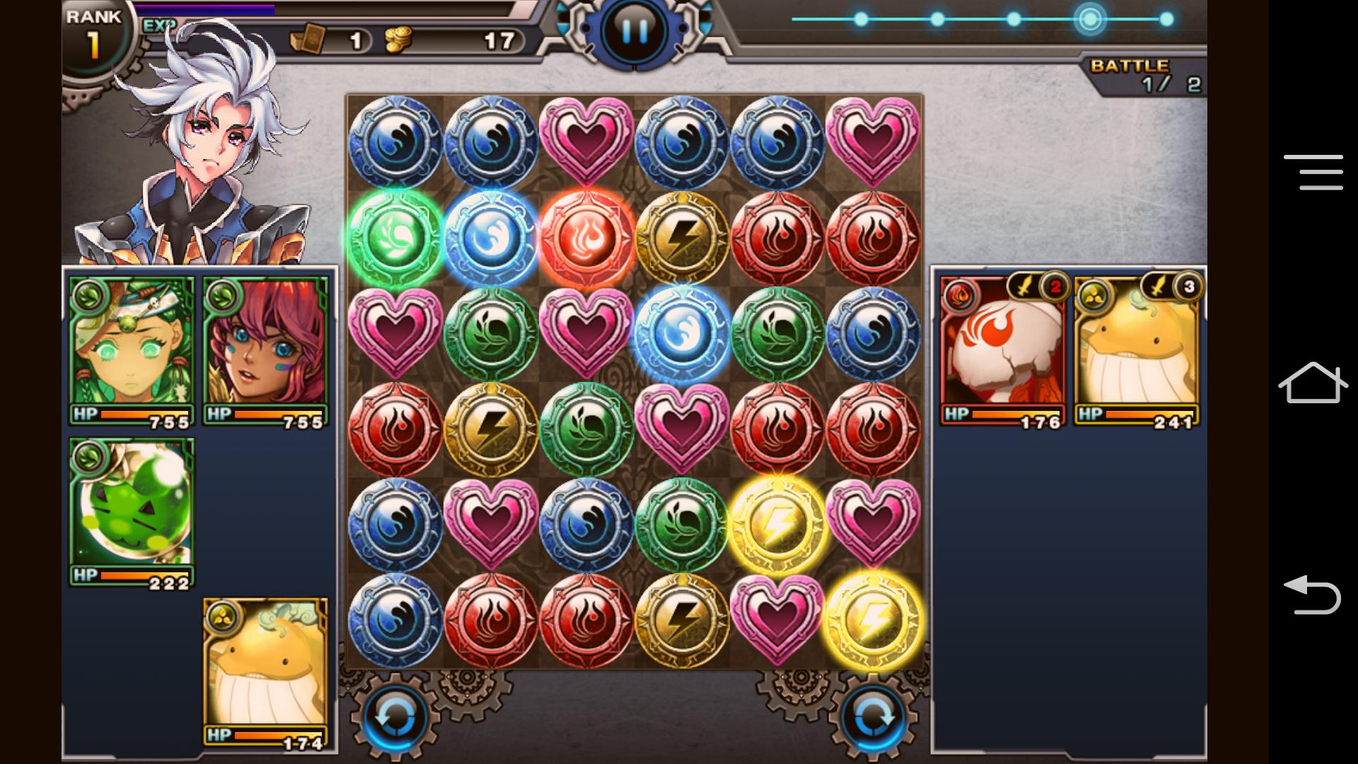 混沌のミッドランド ~Puzzle Monster~ androidアプリスクリーンショット1