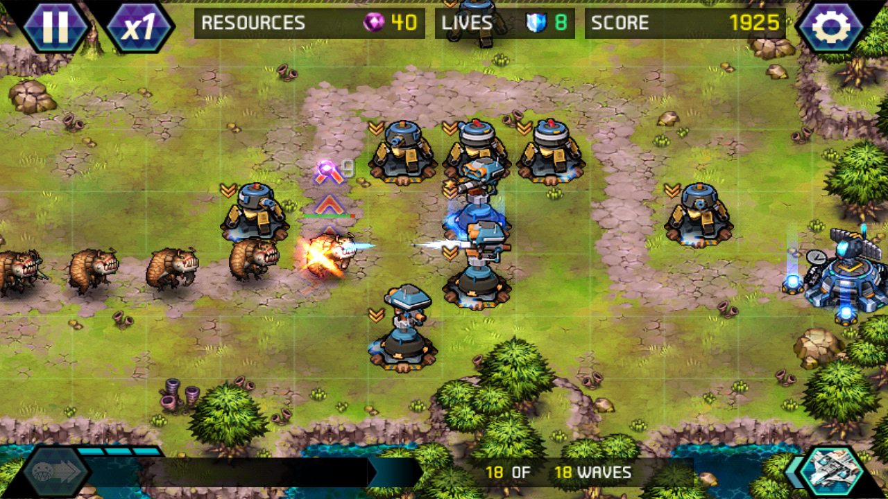 タワーディフェンス: Infinite War androidアプリスクリーンショット1