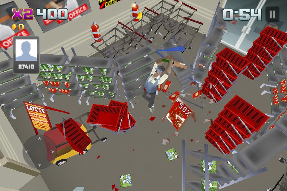 Smash the Mall - リフレッシュ! androidアプリスクリーンショット1