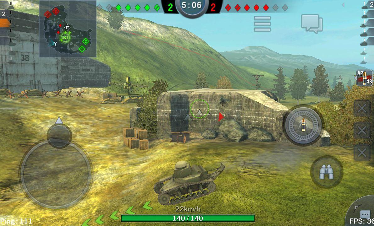androidアプリ World of Tanks Blitz攻略スクリーンショット1