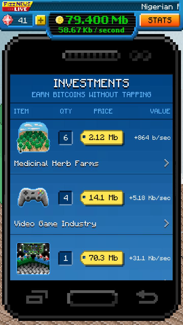 Bitcoin Billionaire androidアプリスクリーンショット3