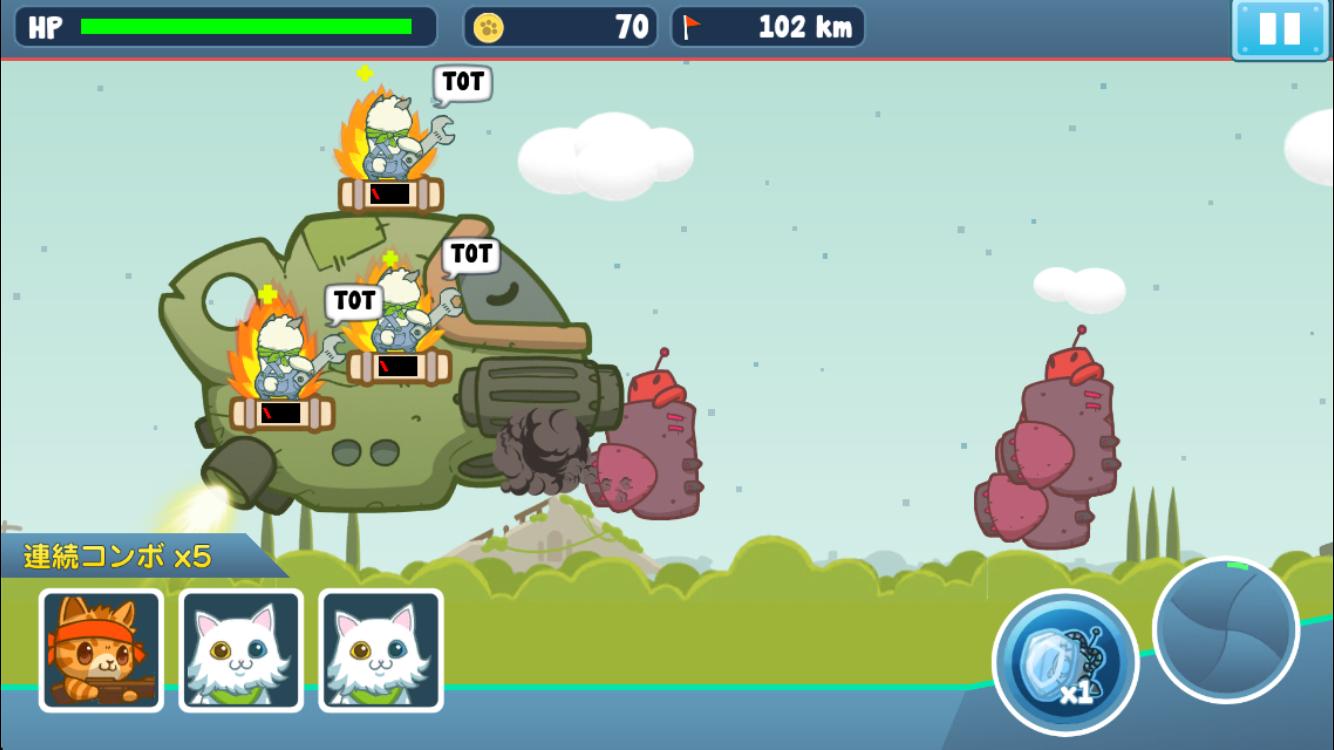 ねこ大乱闘(Naughty Kitties) androidアプリスクリーンショット2