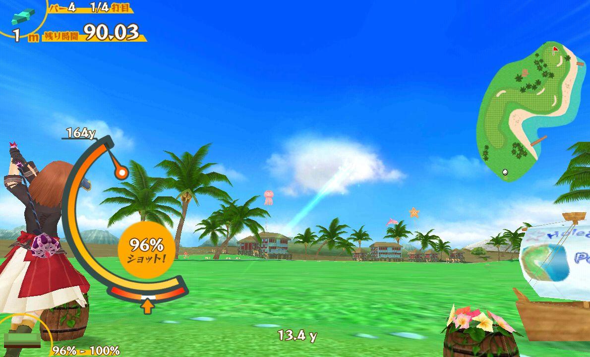スマホでゴルフ! ぐるぐるイーグル androidアプリスクリーンショット1