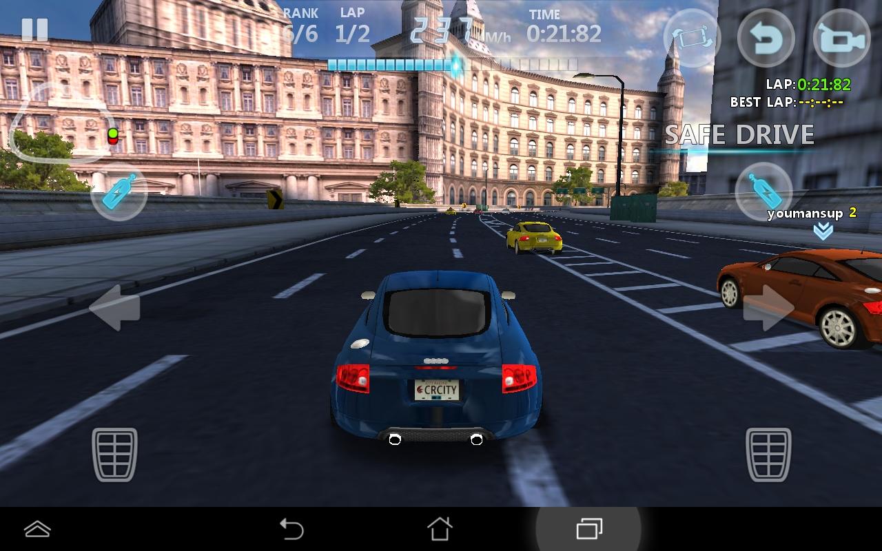 シティレーシング 3D - City Racing androidアプリスクリーンショット1