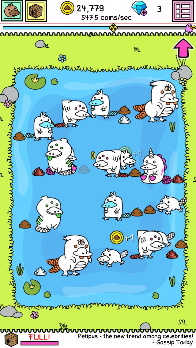 Platypus Evolution -変異体カモノハシ androidアプリスクリーンショット1