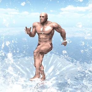 海の上の筋肉