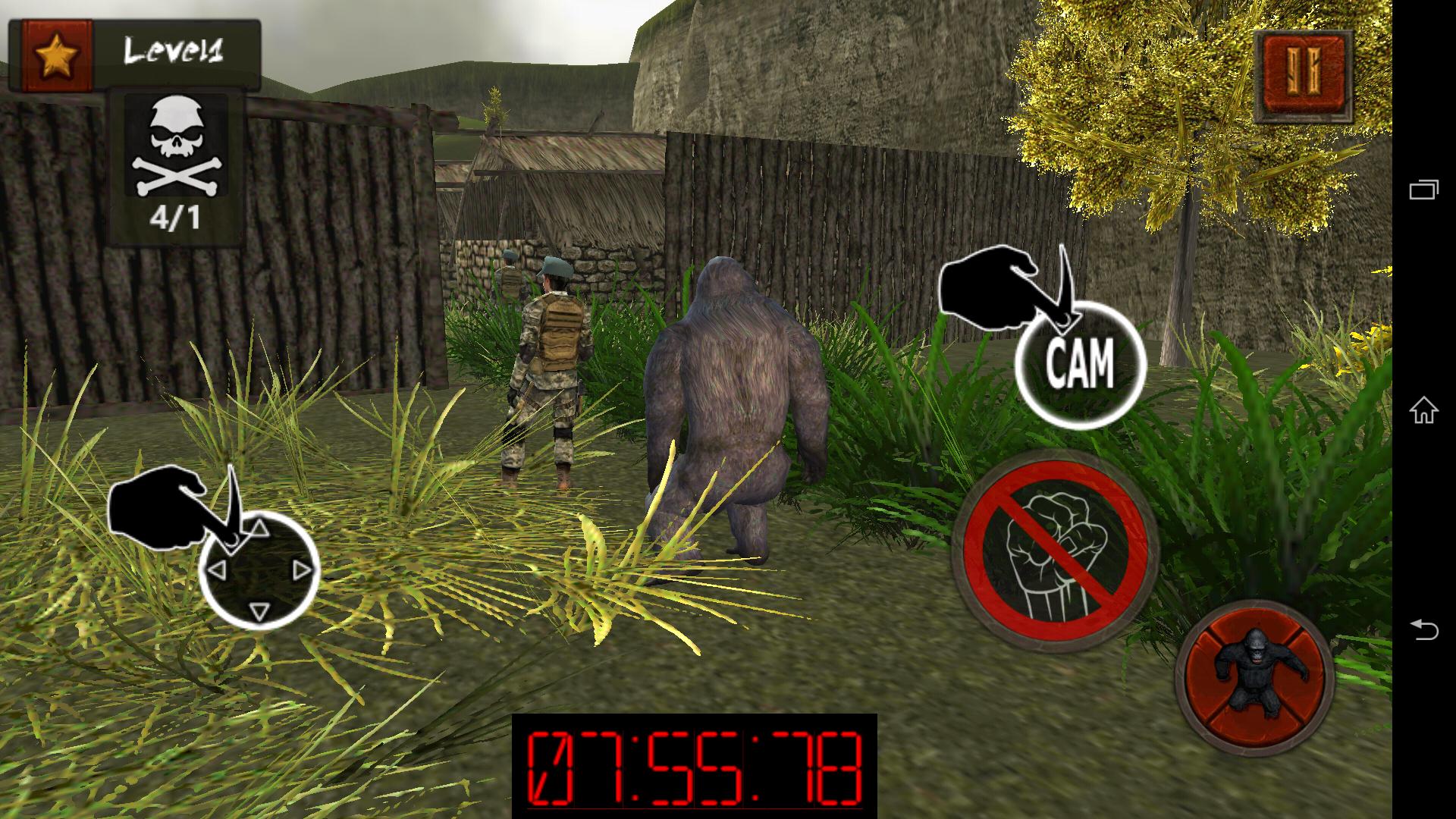 Assassin Ape 3D androidアプリスクリーンショット1
