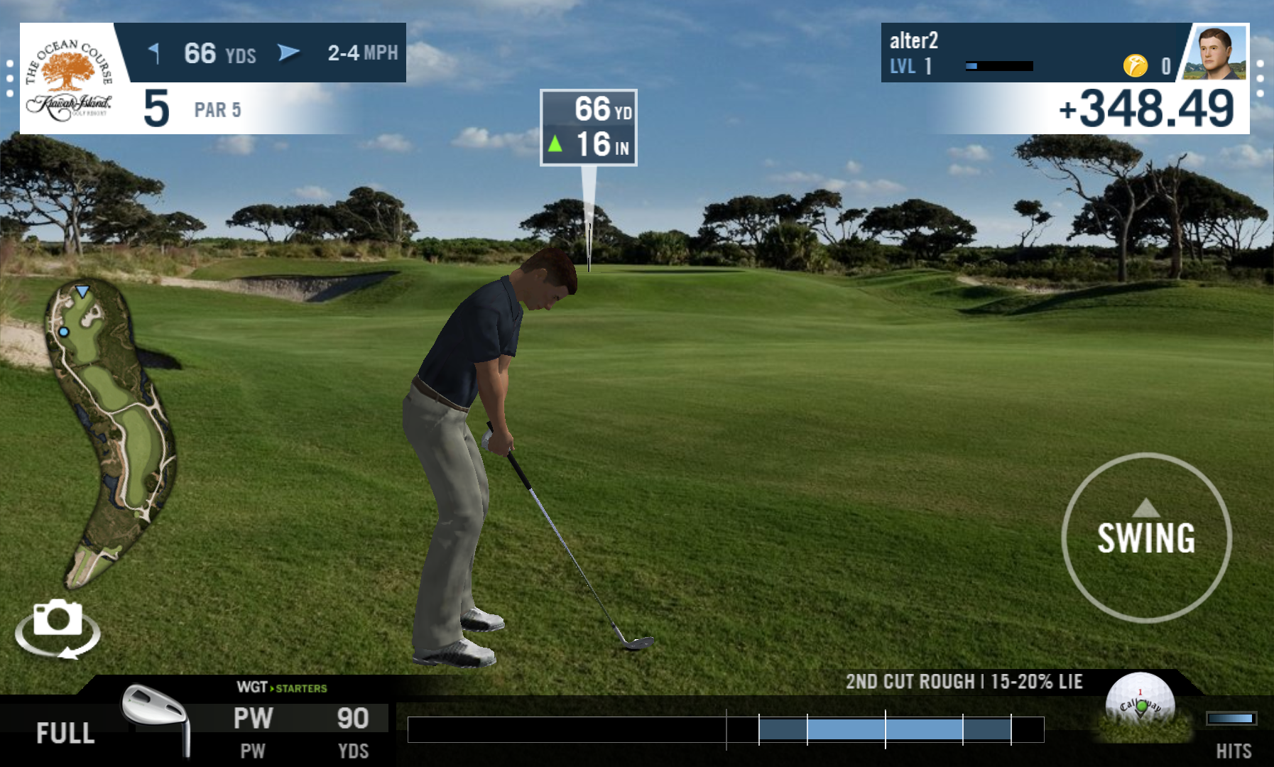 androidアプリ WGT Golf Mobile攻略スクリーンショット2