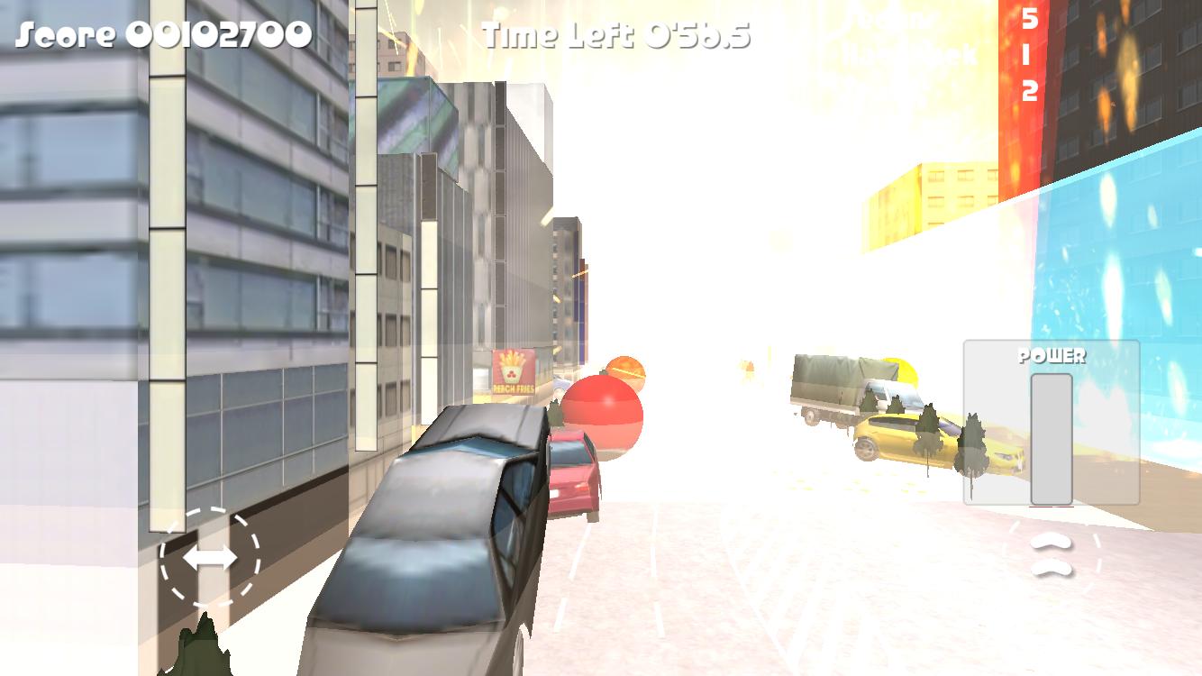アキバボール FREE - 路上駐車を弾き飛ばせ - androidアプリスクリーンショット1