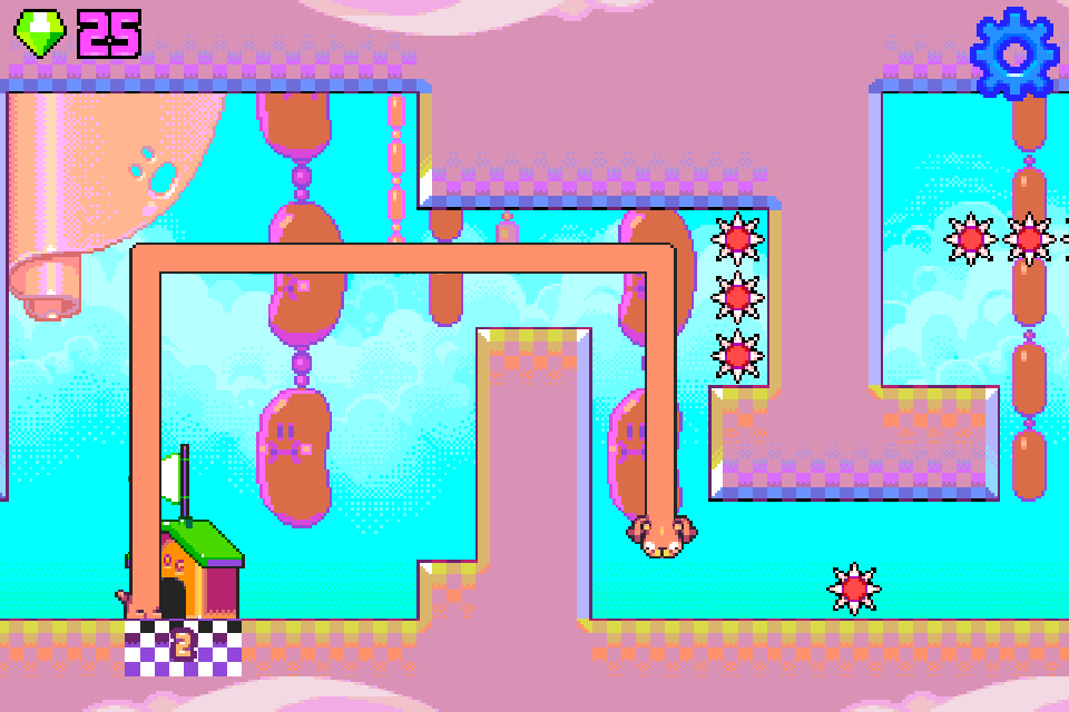Silly Sausage in Meat Land androidアプリスクリーンショット1
