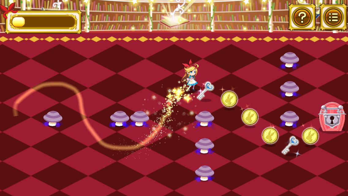 アリスのマジカルライン-ふしぎパズル- androidアプリスクリーンショット1