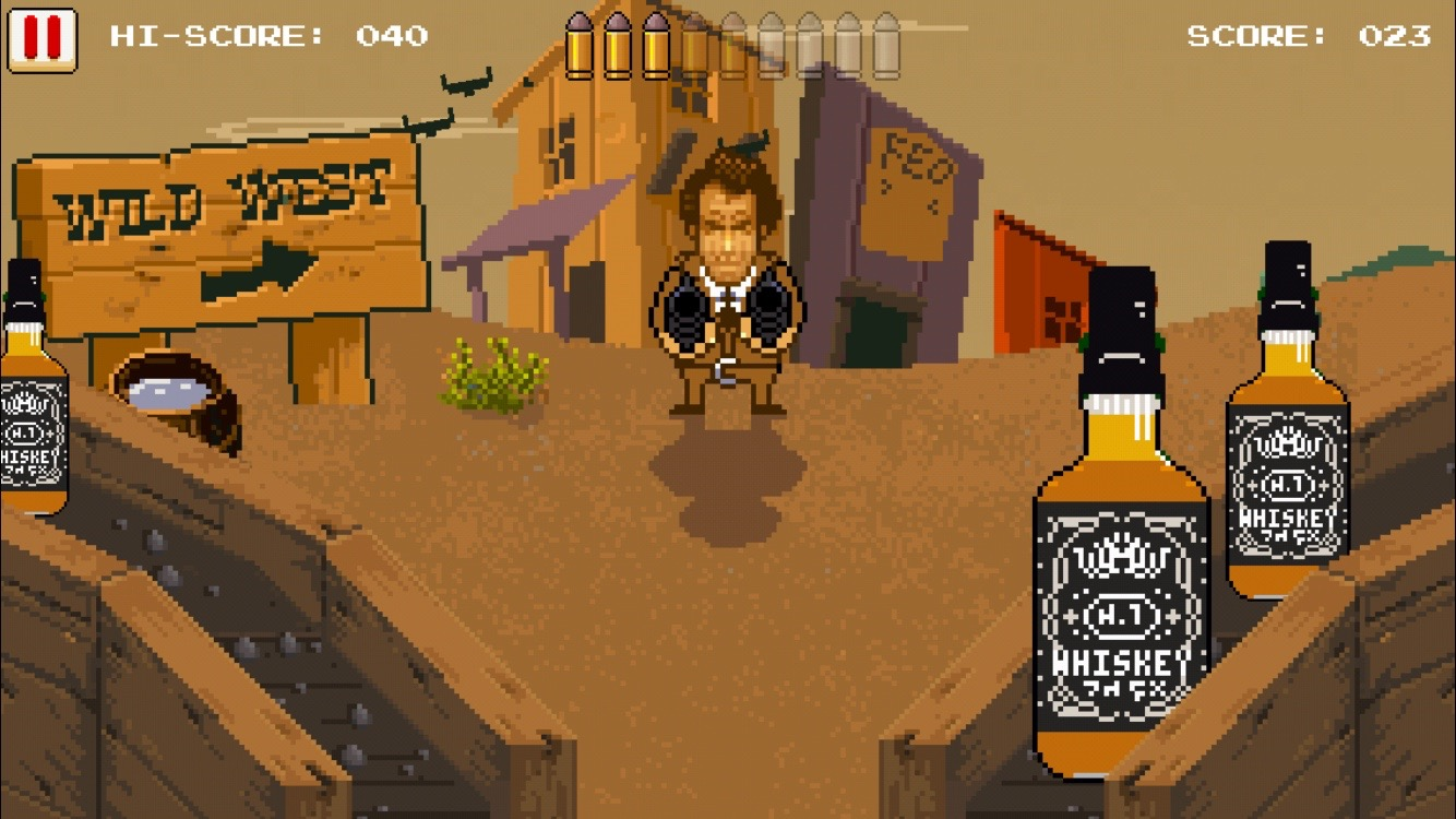 Guns n' Bottles - 西部一早い指使い。 androidアプリスクリーンショット1