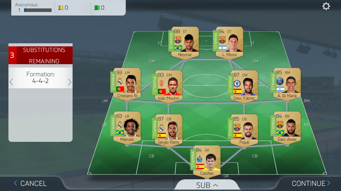 androidアプリ FIFA 16 Ultimate Team™攻略スクリーンショット5