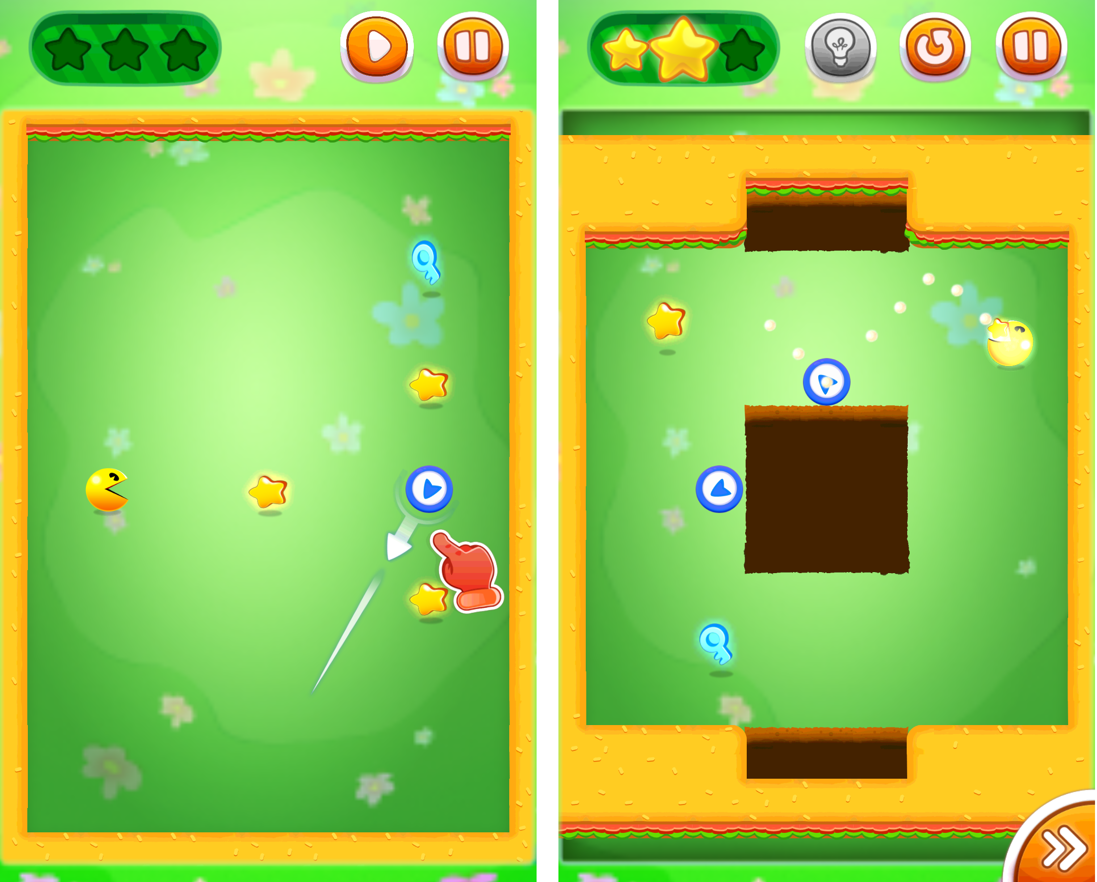 PAC-MAN Bounce - パズルアドベンチャー androidアプリスクリーンショット1