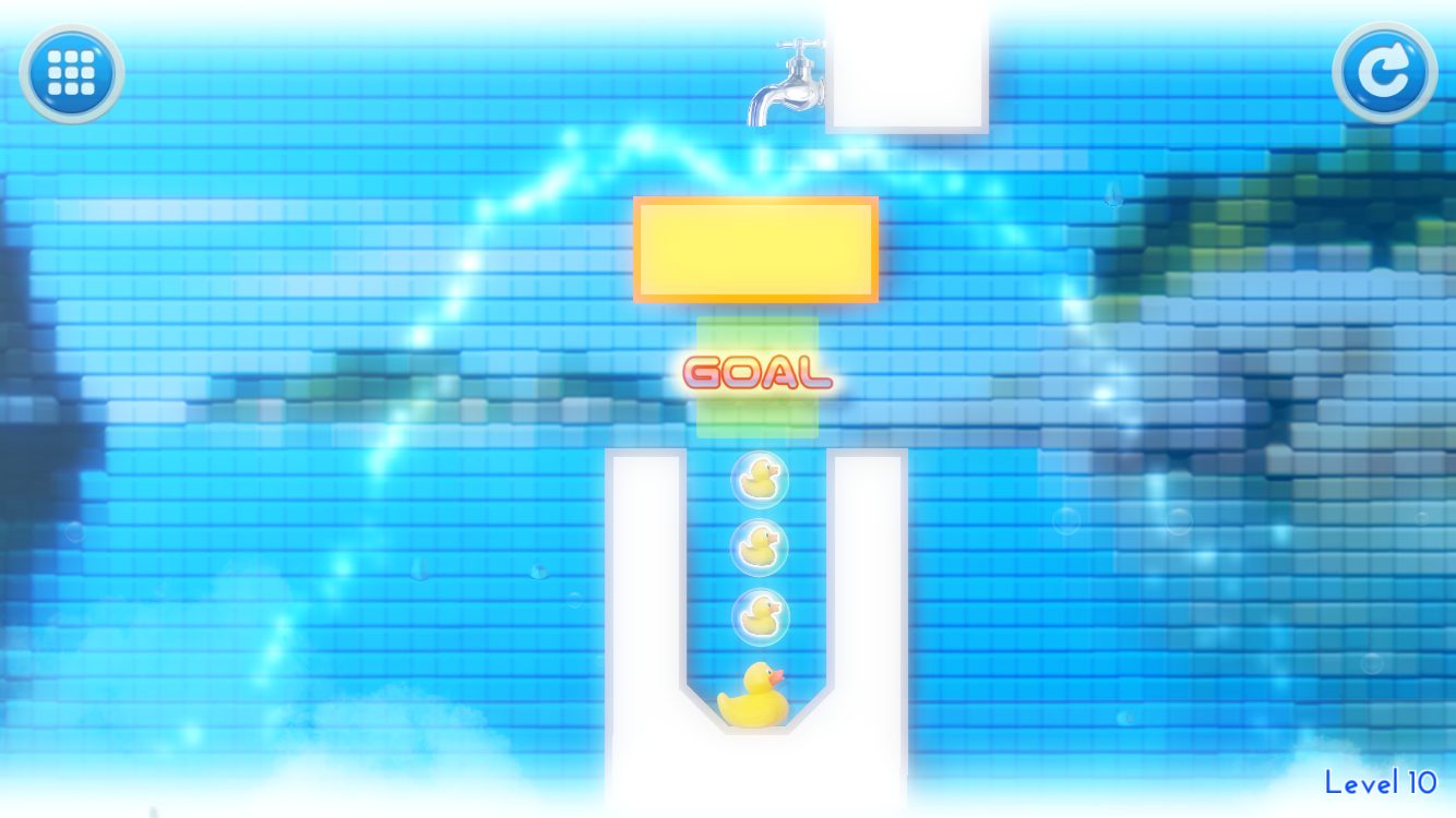 お水のパズル a[Q]ua with UUUM(アキュア) androidアプリスクリーンショット1