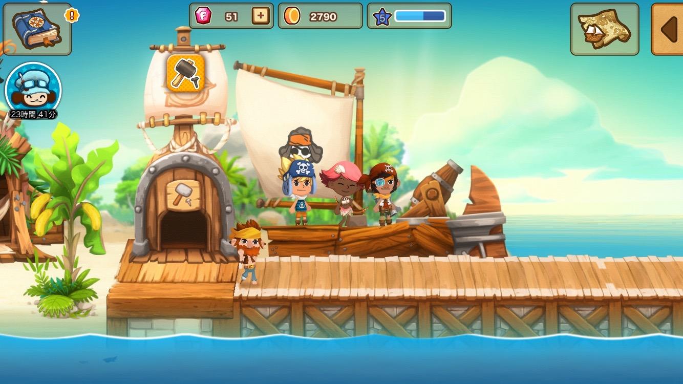 androidアプリ パイレーツストーリー 〜少年海賊サムの大冒険〜攻略スクリーンショット1