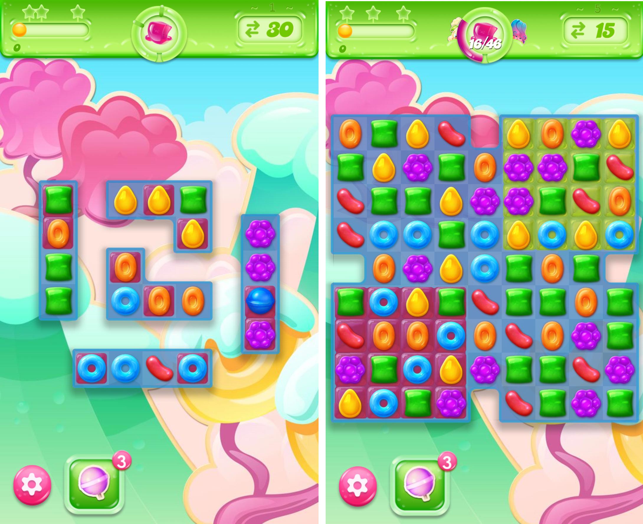 キャンディークラッシュゼリー androidアプリスクリーンショット1