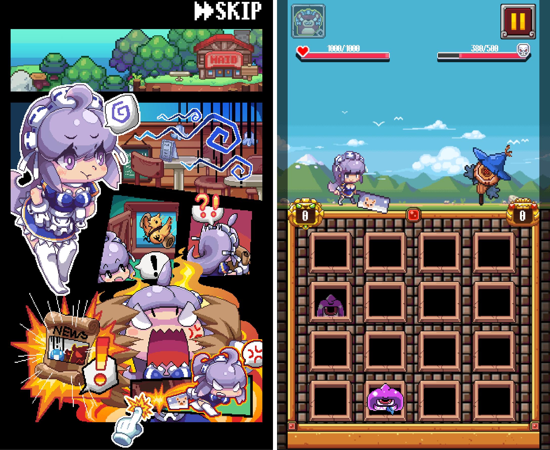メイドとスライム!勇者を救え! androidアプリスクリーンショット1