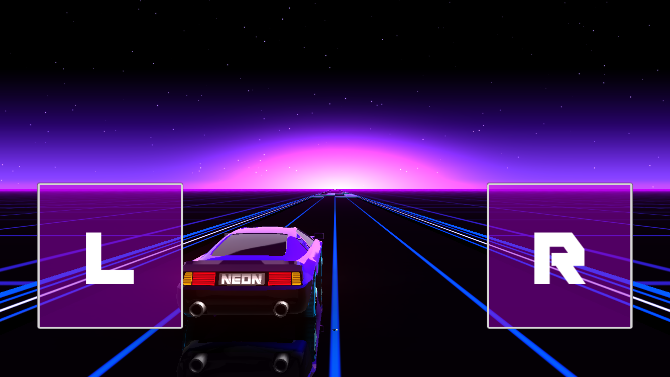 androidアプリ Neon Drive攻略スクリーンショット3