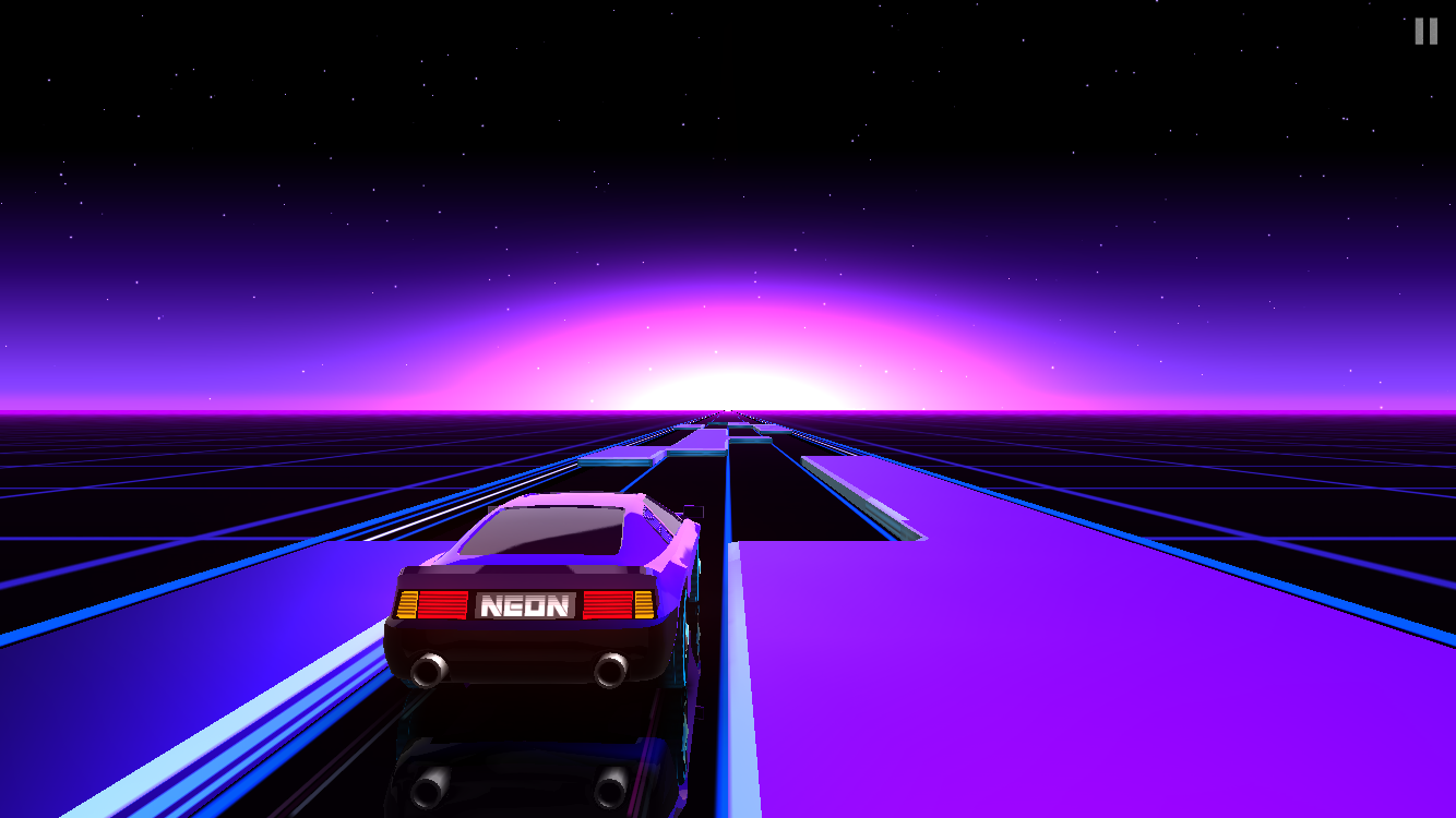 androidアプリ Neon Drive攻略スクリーンショット4