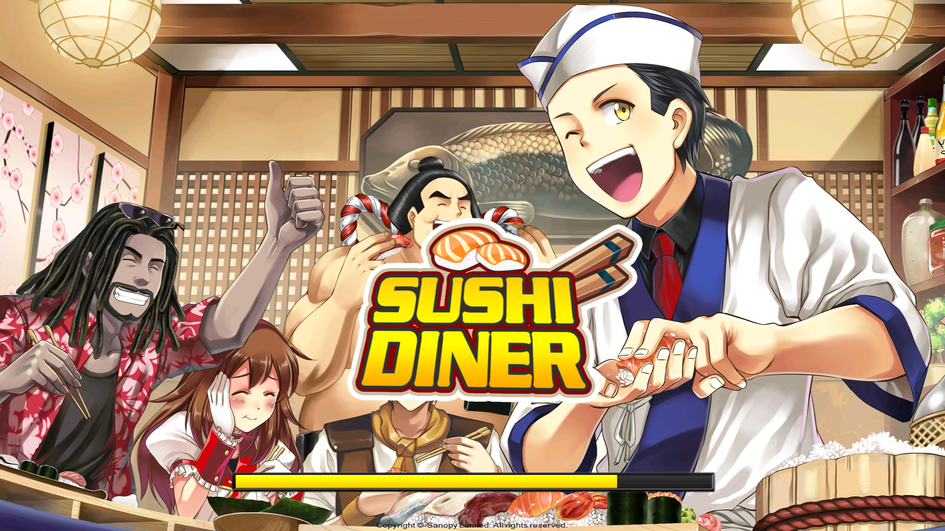 androidアプリ Sushi Diner - Fun Cooking Game攻略スクリーンショット1