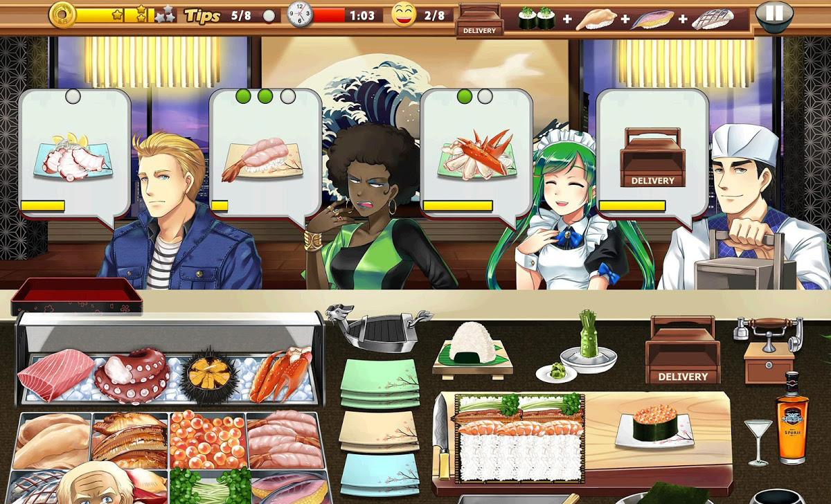 androidアプリ Sushi Diner - Fun Cooking Game攻略スクリーンショット6