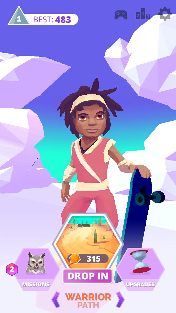 androidアプリ Infinite Skater攻略スクリーンショット1