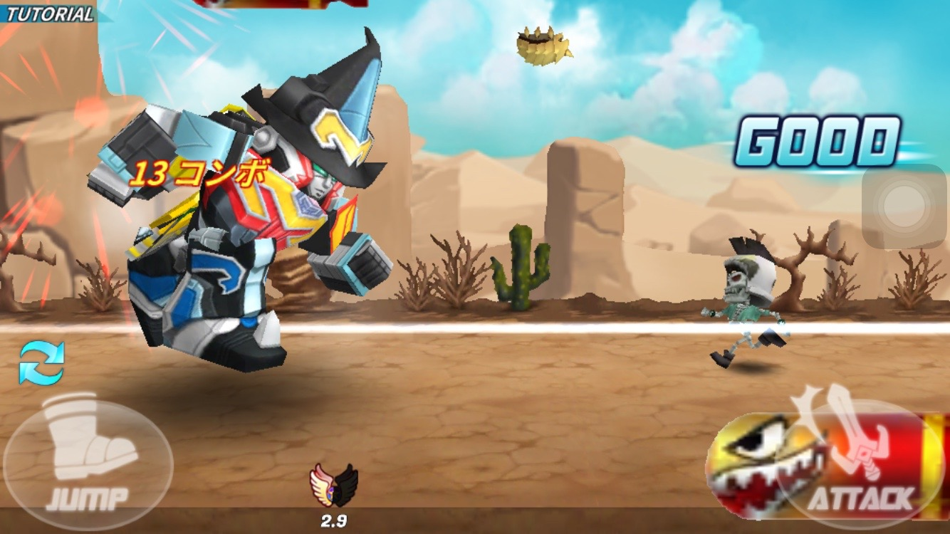 androidアプリ 超スーパー戦隊ダッシュ攻略スクリーンショット3
