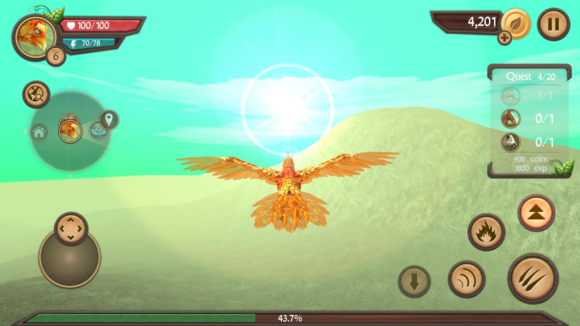Phoenix Sim 3D(フェニックス シミュレータ) androidアプリスクリーンショット1