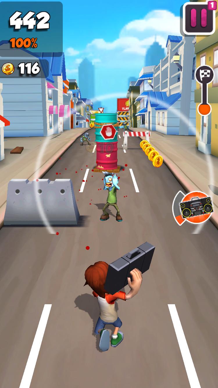 androidアプリ Undead City Run攻略スクリーンショット2