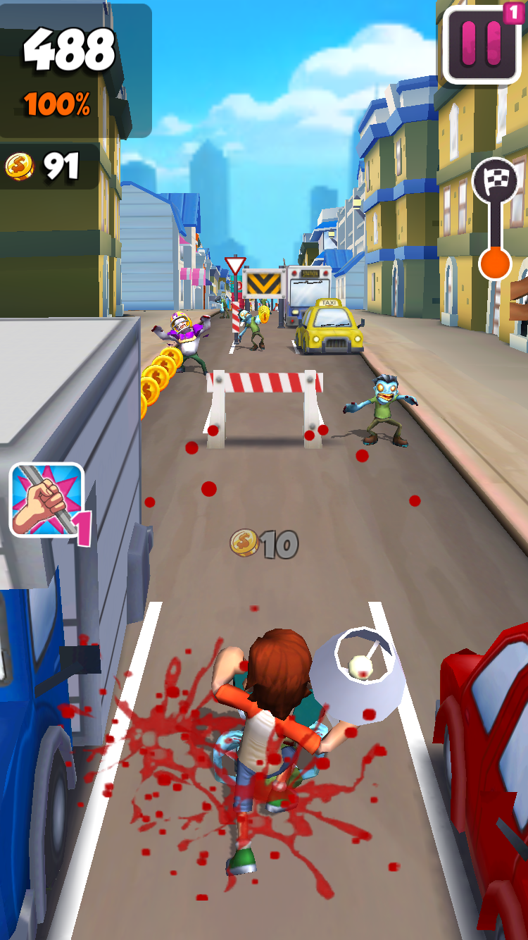 Undead City Run androidアプリスクリーンショット1