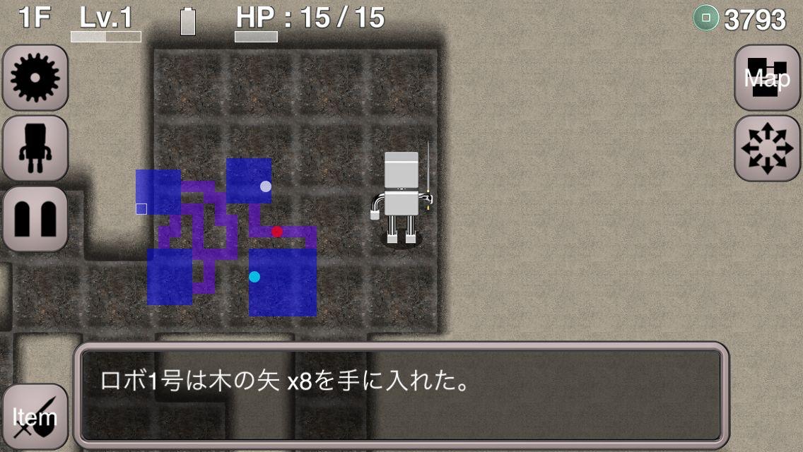androidアプリ ロボローグ(Roborogue)攻略スクリーンショット3