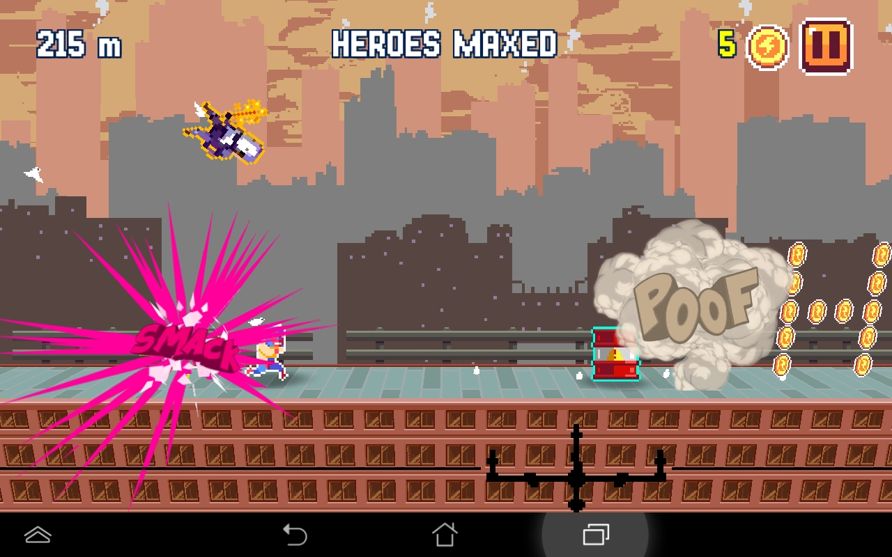 androidアプリ Pixel Super Heroes攻略スクリーンショット1