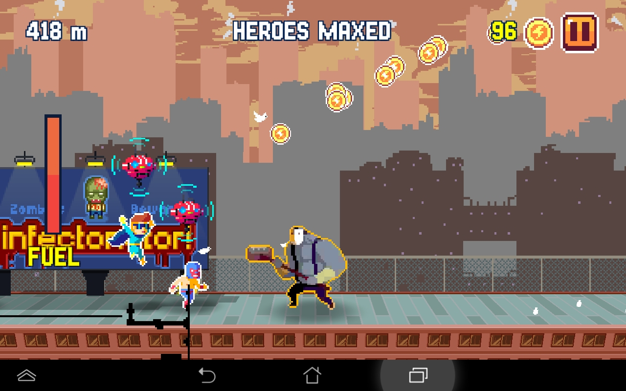 androidアプリ Pixel Super Heroes攻略スクリーンショット2