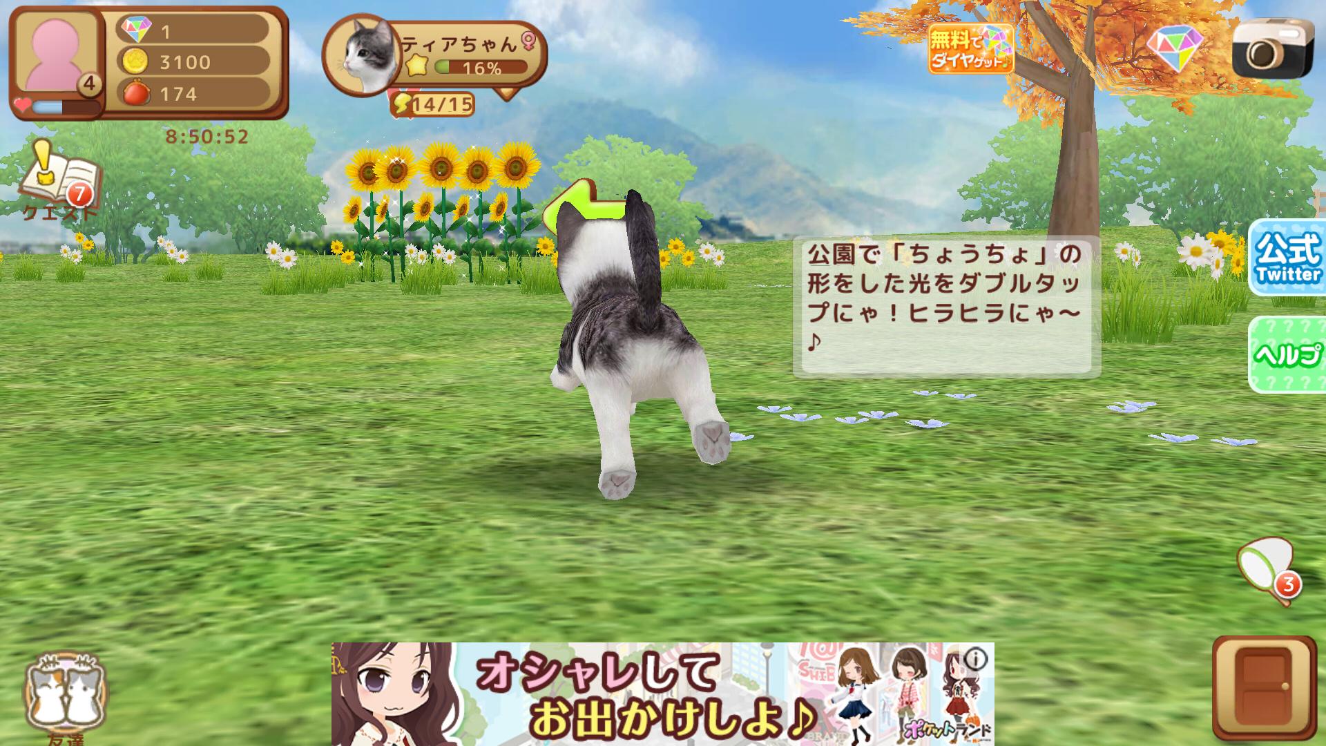 てのひらニャンコ(てのニャン) androidアプリスクリーンショット3