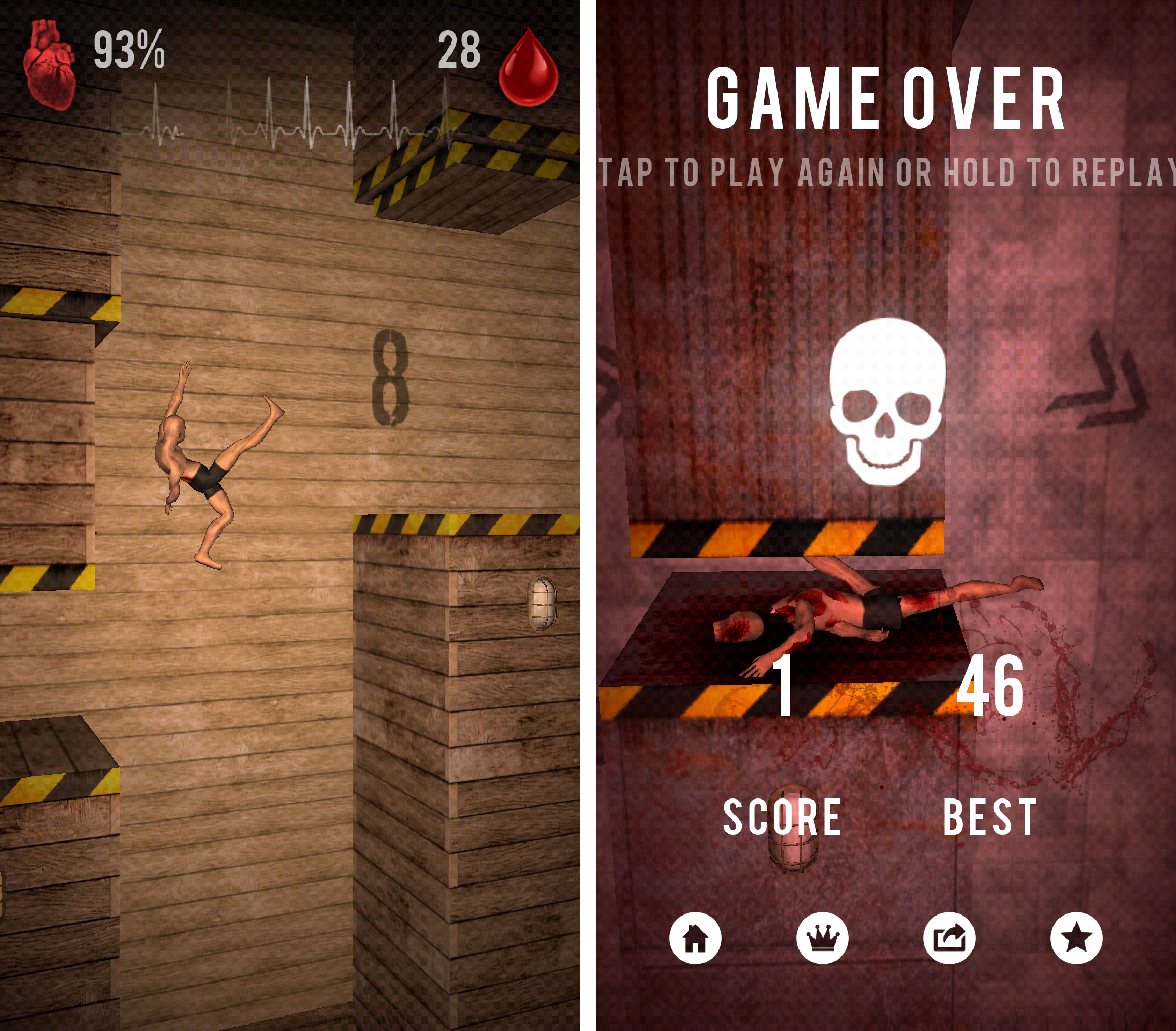 Bloody Jumps -Jump or Die- androidアプリスクリーンショット1