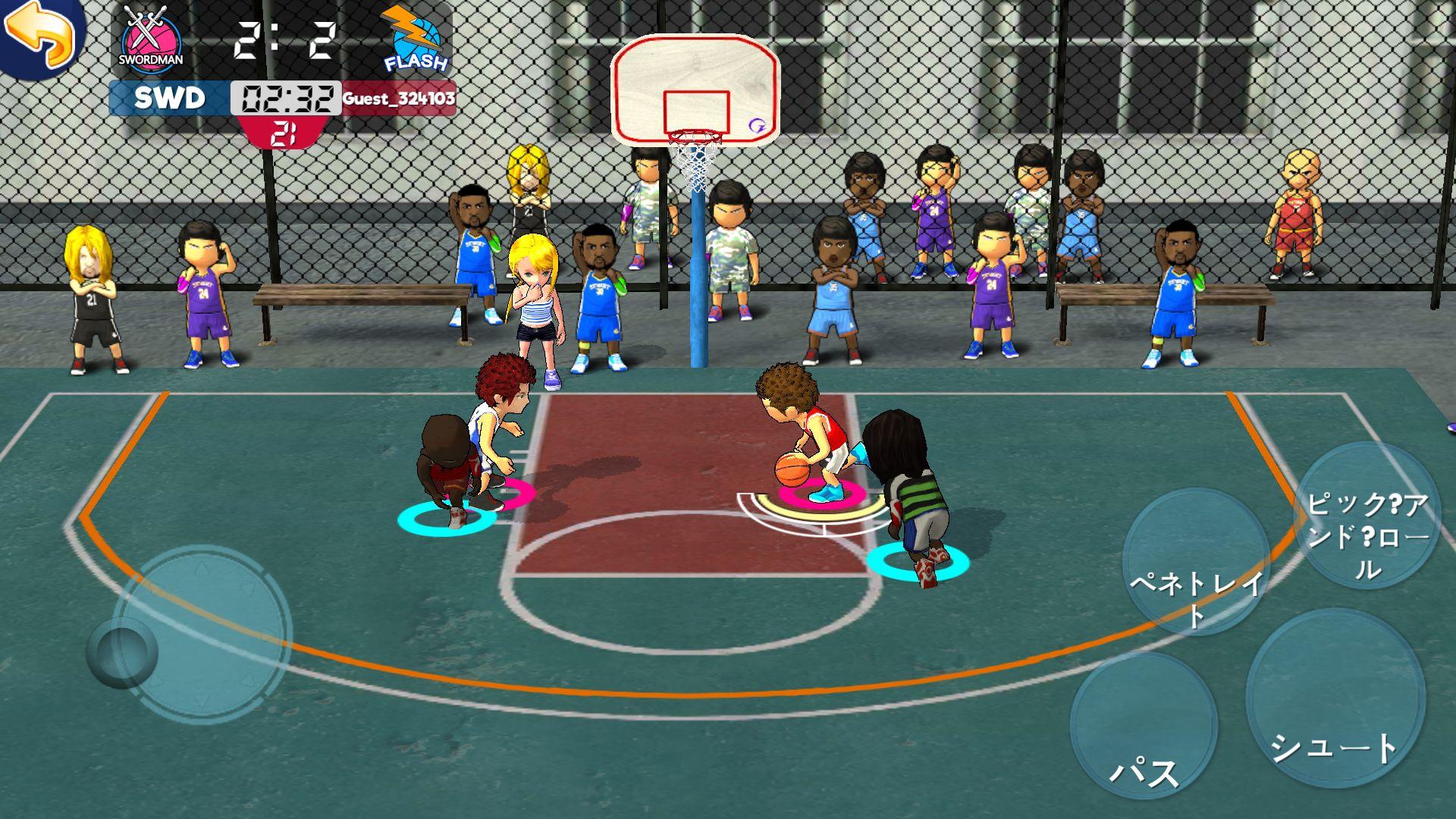 androidアプリ 街頭バスケットリーグ攻略スクリーンショット4