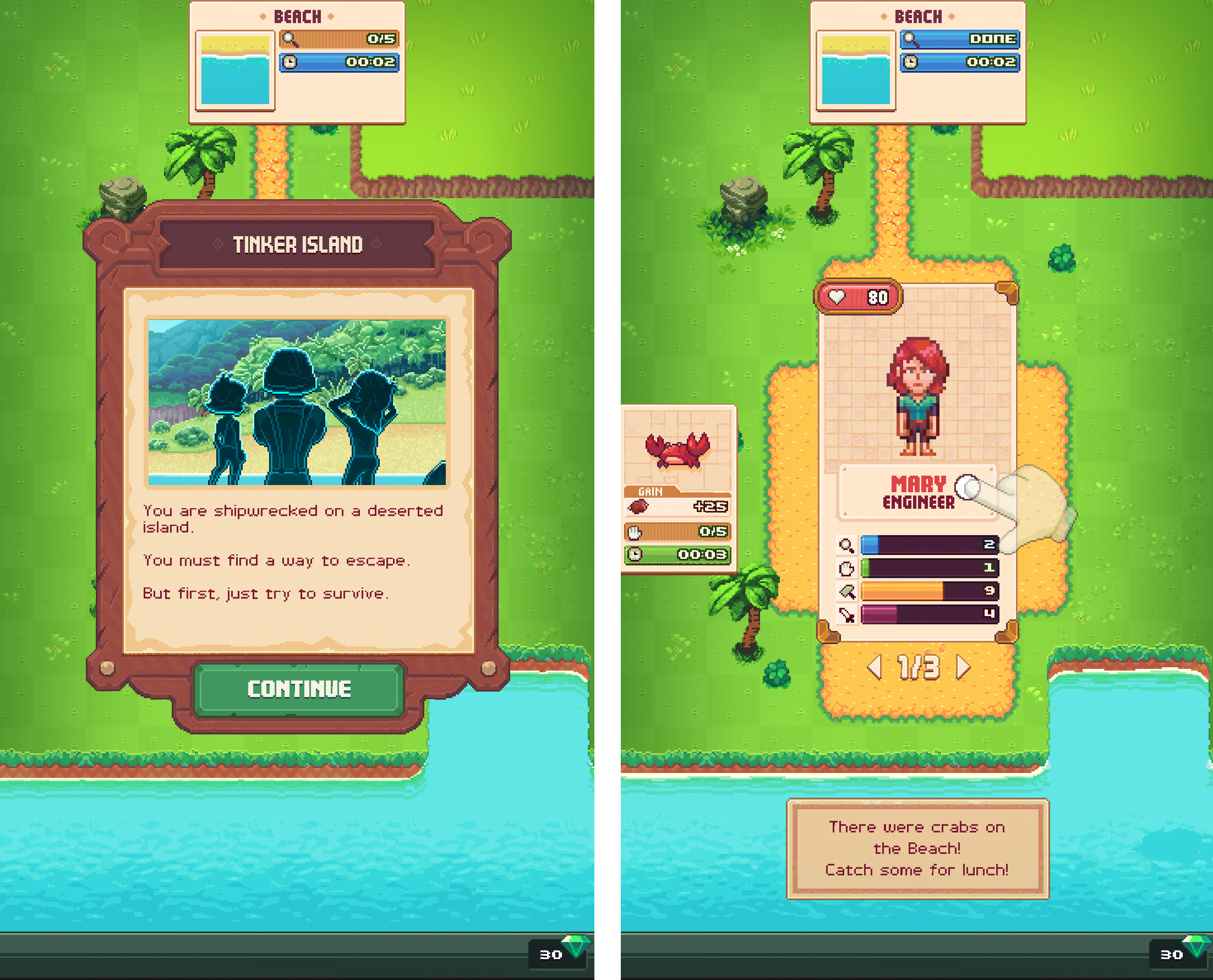 androidアプリ Tinker Island攻略スクリーンショット2